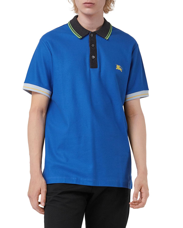 Burberry Mens Hursford Cotton Polo Shirt Neiman Marcus