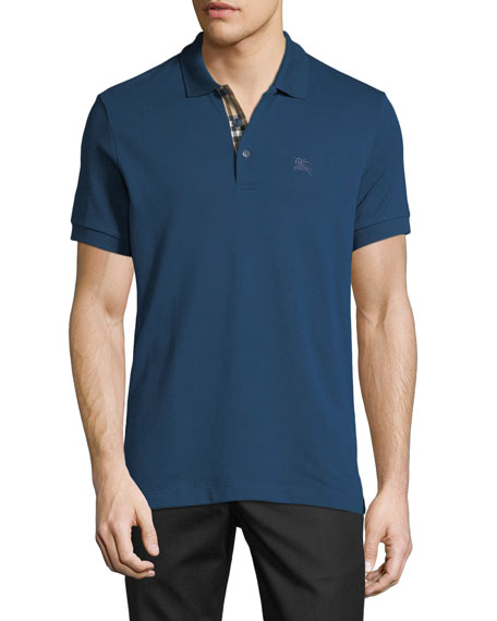 Burberry Men's Hartford Polo Shirt, Teal