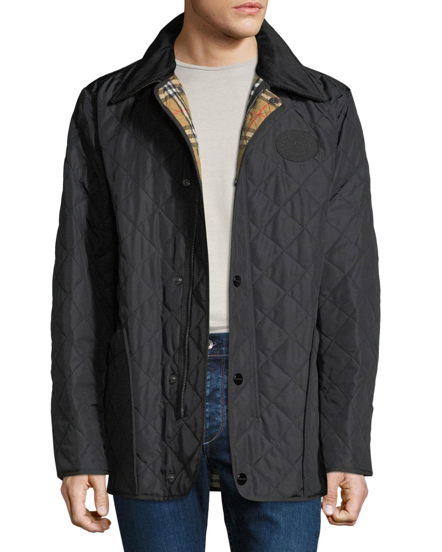38e367b1ca0 Burberry Men s Cotswold Signature Check-Lining Jacket