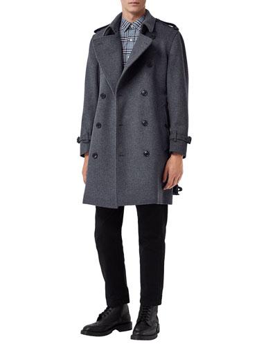 Men's Kensington Wool-Blend Double-Breasted Coat
