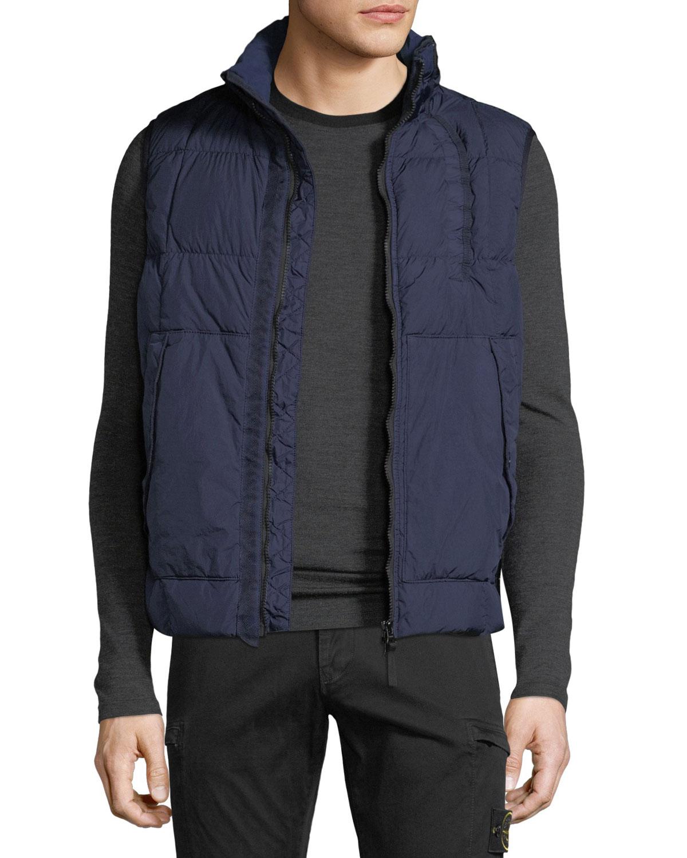 Stone Island Men's Real Down Puffer Waistcoat Vest
