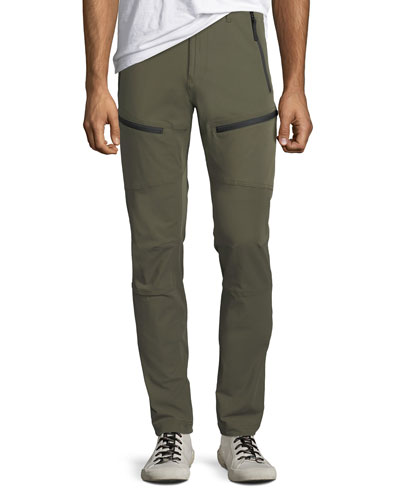Men's Zip-Detail Slim-Leg Pants