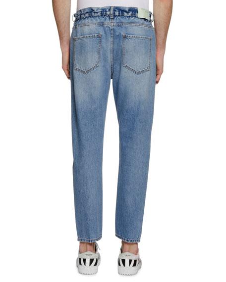 Men's Slim Low-Crotch Jeans
