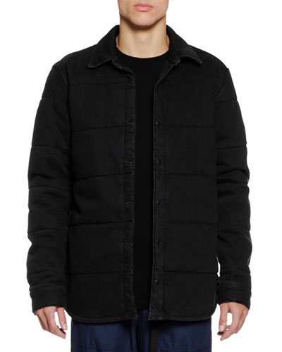 Men's Denim Puffer Jacket