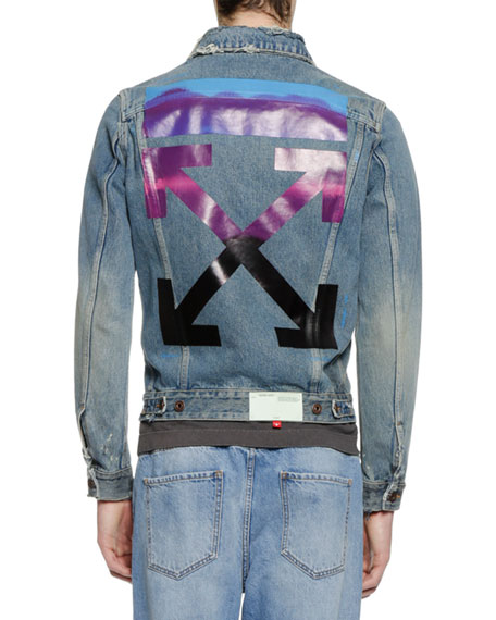 Men's Vintage-Wash Denim Jacket