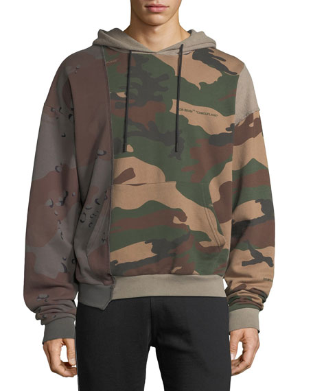 Men's Reconstructed Camo-Print Hoodie Sweatshirt