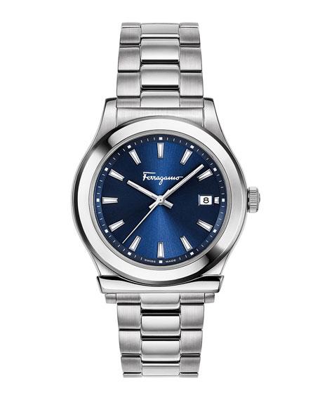 Men's 1898 3-Hand Date Bracelet Watch, Blue