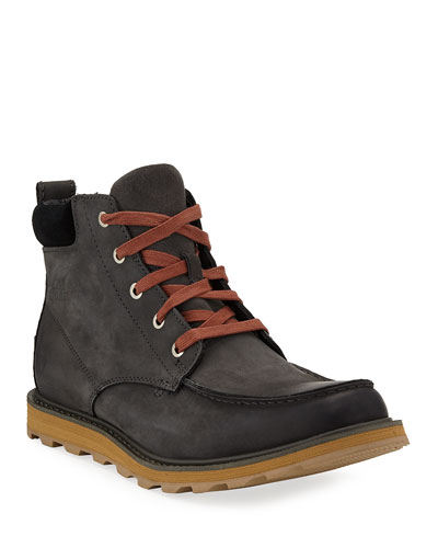 Men's Madson Moc-Toe Waterproof Leather Hiker Boots