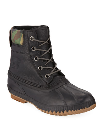Men's Cheyanne II Premium Waterproof Short Leather Lace-Up Duck Boots