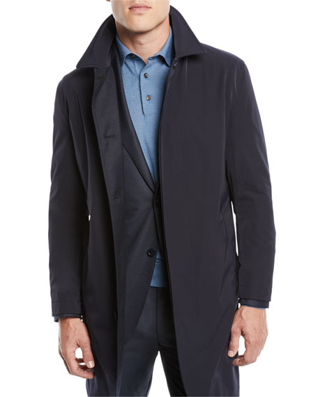 Ermenegildo Zegna Men's Reversible Raincoat