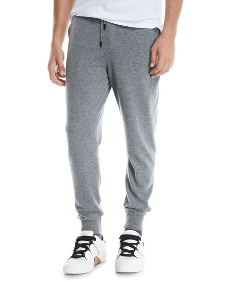 Ermenegildo Zegna Men's Heathered Jogger Pants