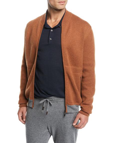 Ermenegildo Zegna Men's Cashmere Full-Zip Blouson Sweater