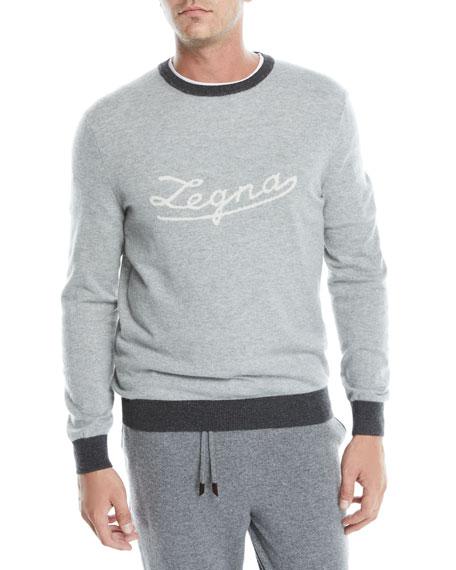Ermenegildo Zegna Men's Cashmere Logo Pullover Sweater