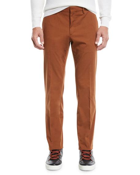 Ermenegildo Zegna Men's Casual Solid Chino Straight-Leg Pants