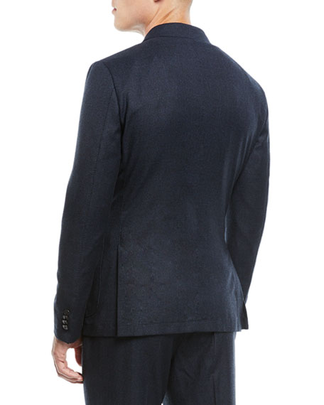 Men's Micro-Check Wash/Go Two-Piece Suit