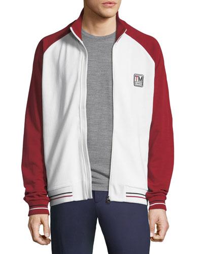 Men's Two-Tone Zip-Front Sweatshirt