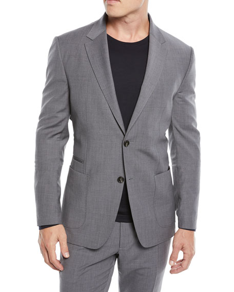 Men'S Turati Wash-And-Go Two-Piece Wool Suit, Dark Gray