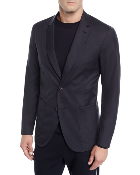 Men's Wool-Blend Travel Jacket