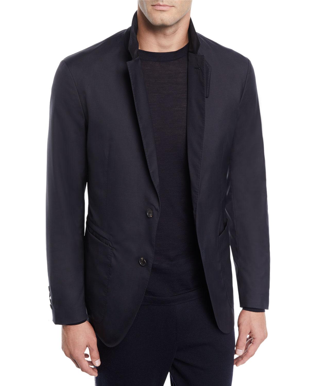 ermenegildo zegna men 39 s wool blend travel jacket neiman marcus On zegna travel jacket