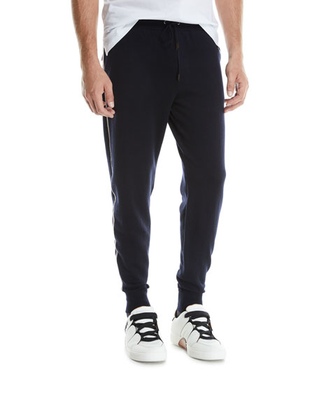 Ermenegildo Zegna Men's Side-Stripe Drawstring Jogger Pants