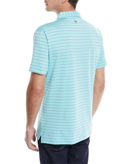 Men's Tour-Fit Kiegiel Stripe Performance Polo Shirt