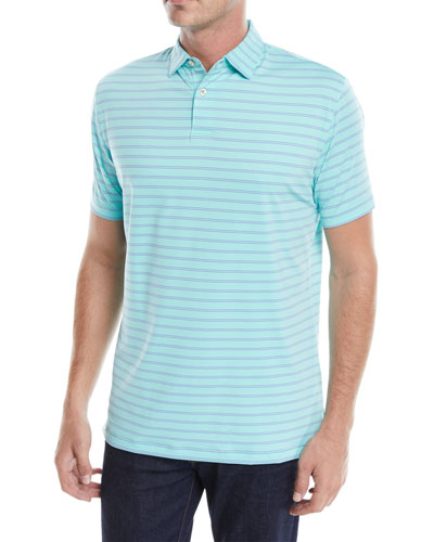 Men's Tour-Fit Kiegiel Stripe Performance Polo Shirt
