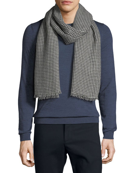 19ANDREAS47 Men'S Little Herringbone Cashmere Scarf in Multi