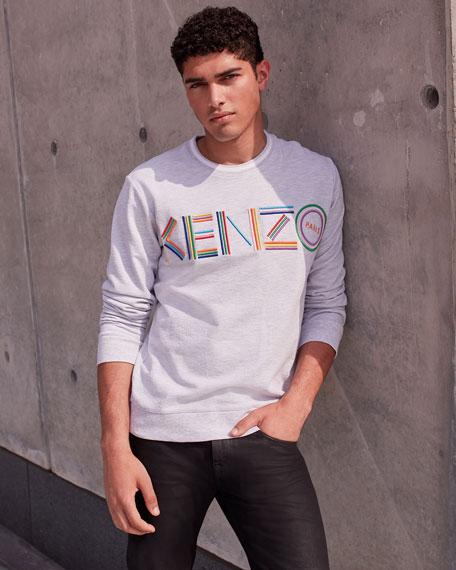 Men's Multicolor Logo Crewneck Cotton Sweatshirt