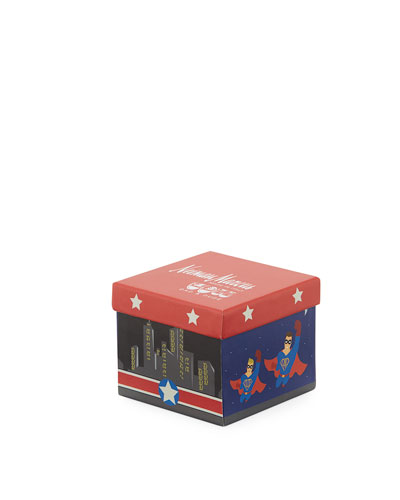 Dad & Dude Super Hero Socks Cube Set