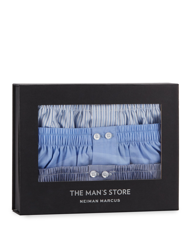 Men's 3 Pack Cotton Boxers by Neiman Marcus