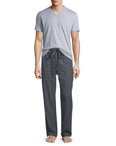 Men's Two-Piece Flannel Pajama Gift Set