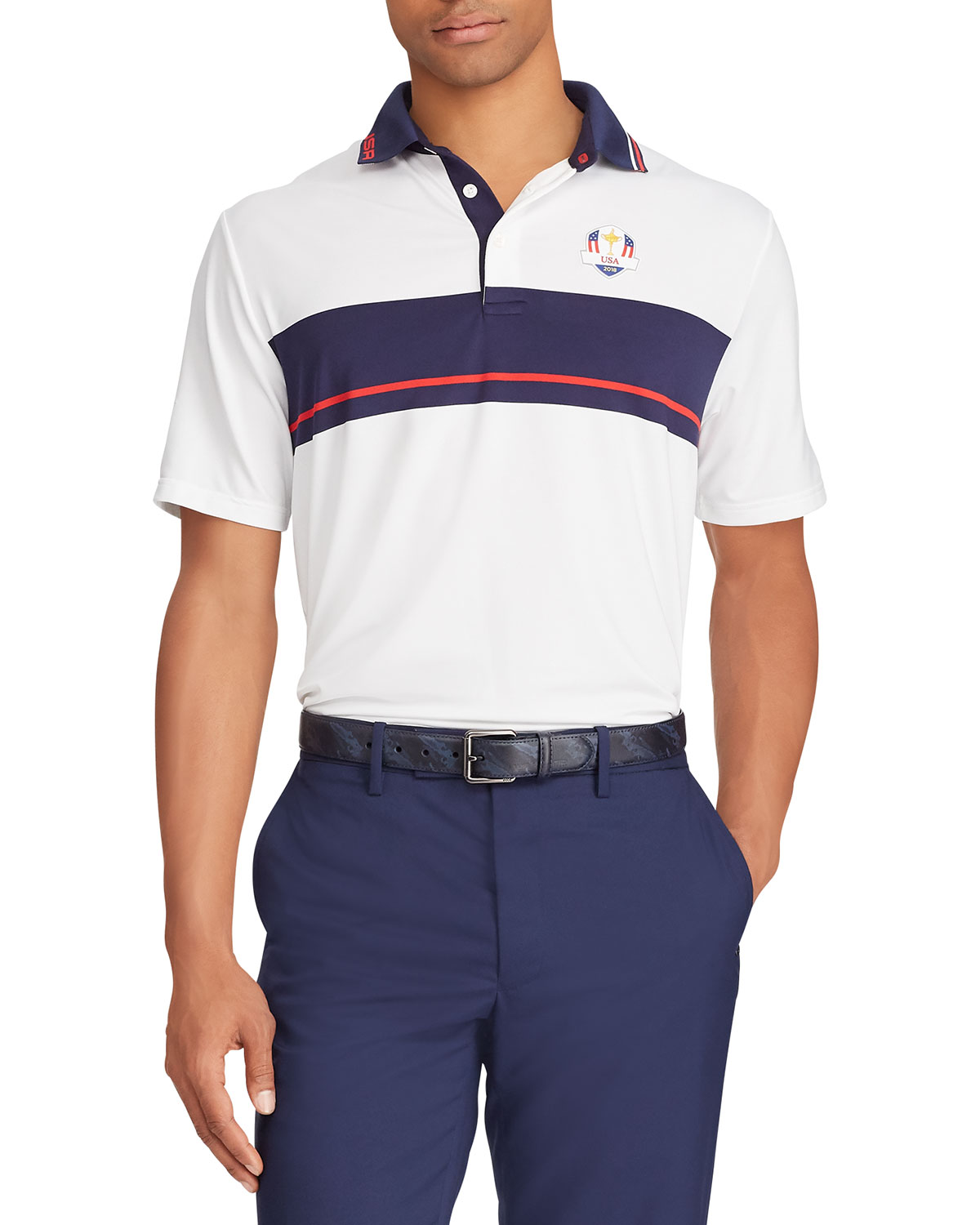 Ralph Lauren Mens Tuesday Usa Ryder Cup French Knit Golf Polo