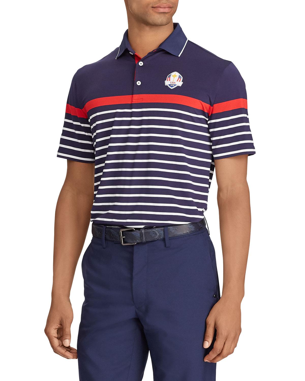 Ralph Lauren Mens Thursday Usa Ryder Cup Striped French Knit Golf