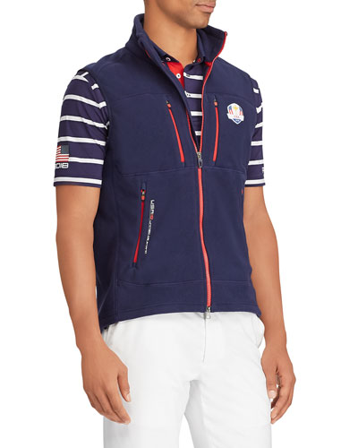 Men's USA Ryder Cup Zip-Front Knit Golf Vest