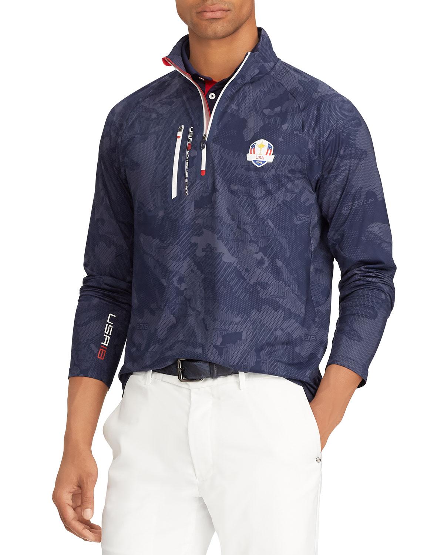 Ralph Lauren Mens Ryder Cup Usa Camo Print Jersey Golf Shirt