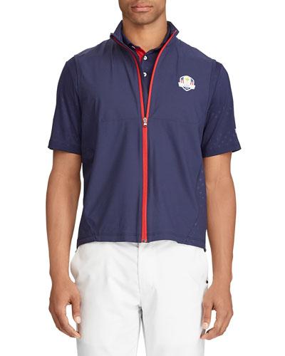 Men's Unlined Zip-Front Golf Vest