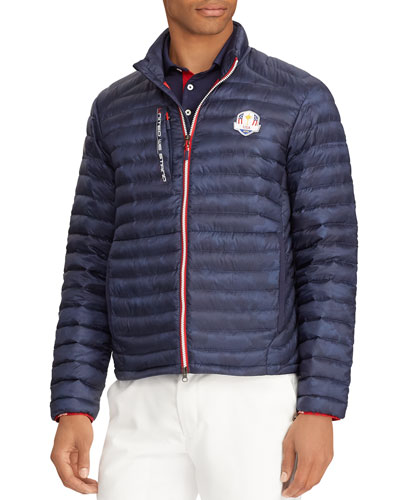 Men's USA Ryder Cup Camouflage-Print Quilted Down Jacket