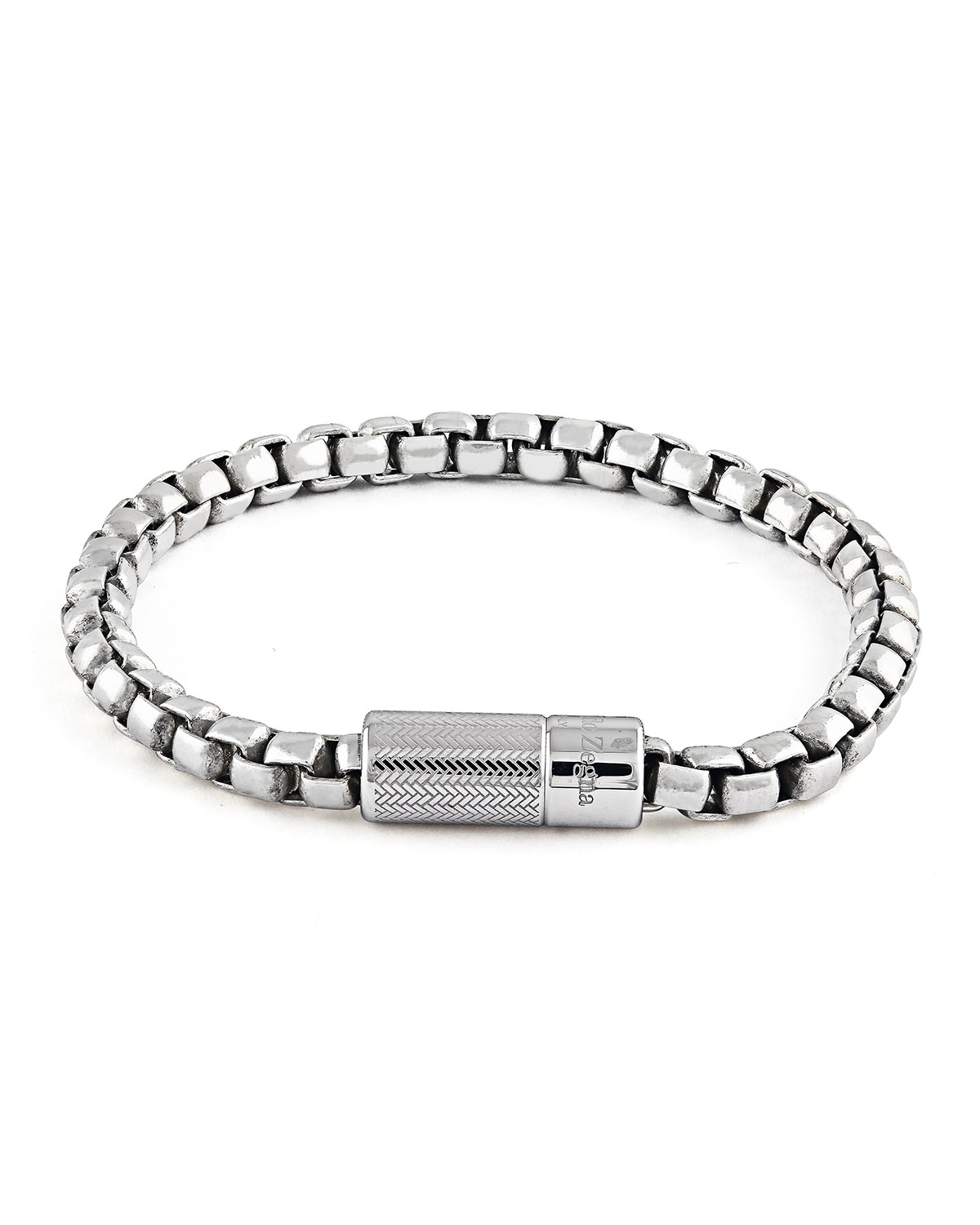 Men S Snake Chain Sterling Silver Bracelet