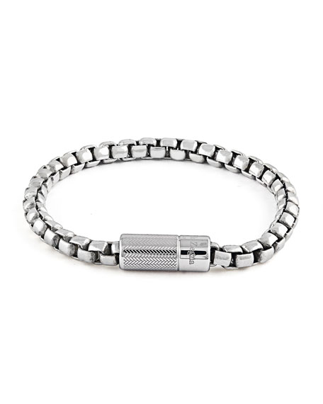 Men's Silver Snake-Chain Bracelet. 19.5mm