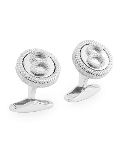 Diamond Eight Cuff Links