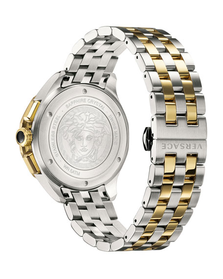 Men's 44mm Glaze Chronograph Watch w/ Bracelet Strap, Two-Tone