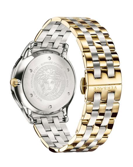 Men's Univers 43mm Watch w/ Bracelet Strap, Two-Tone/Green