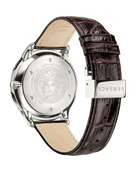 Men's Univers 43mm Watch w/ Leather Strap