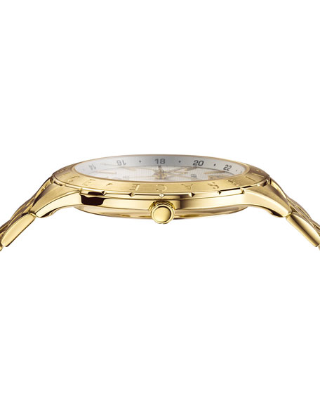 Men's Univers 43mm Watch w/ Bracelet Strap, Champagne
