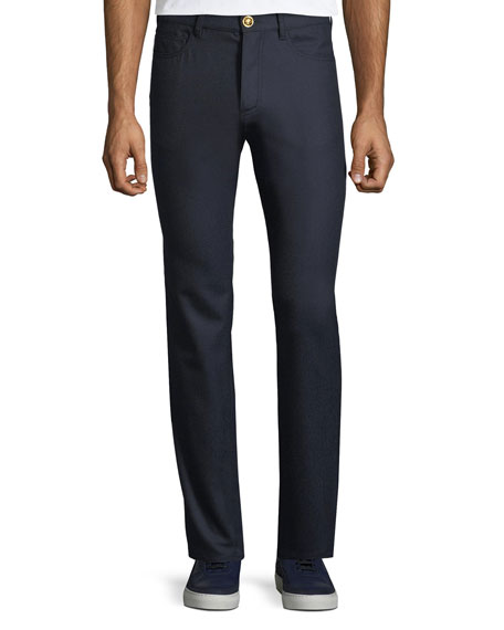 Men's Straight-Leg Wool Trousers