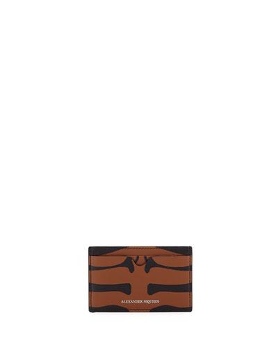 Men's Animal-Print Leather Card Case