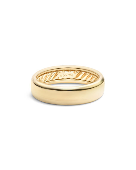 David Yurman Men's Streamline 18k-Gold Band Ring