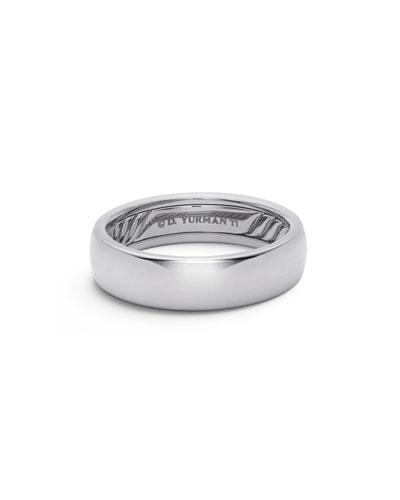 Men's 6mm Titanium Streamline Band Ring