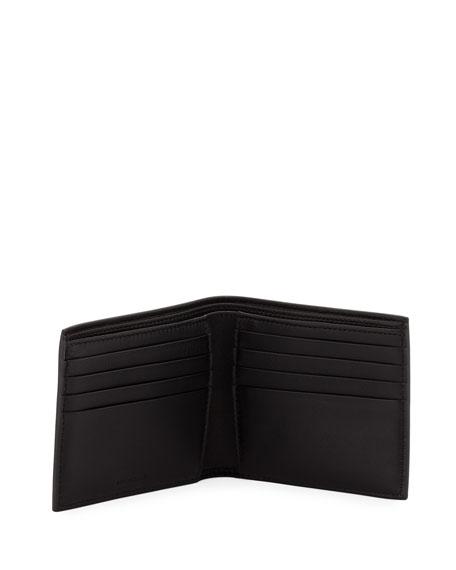 Men's Logo-Print Leather Bi-Fold Wallet