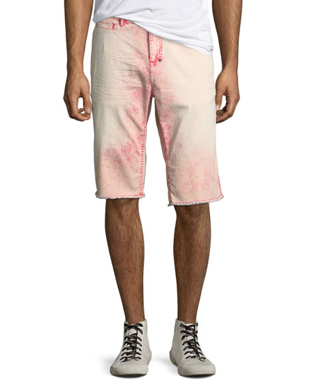 PRPS Men's Faded Cotton Twill Shorts